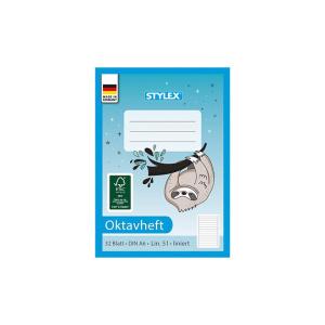 Stylex Oktavheft - DIN A6 - liniert - 32 Blatt