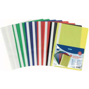 Stylex Schnellhefter - DIN A4 - PP - farbig - 10 Stück
