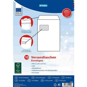 Stylex Versandtaschen - DIN C4 - mit Fenster - weiß...