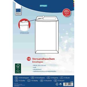 Stylex Versandtaschen - DIN B4 - weiß - 10 Stück