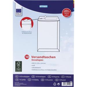 Stylex Versandtaschen - DIN C4 - weiß - 10 Stück