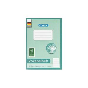 Stylex Vokabelheft - DIN A6 - Lineatur 53 - 32 Blatt
