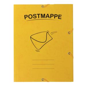 Stylex Postmappe - DIN A4 - mit Gummizug - gelb