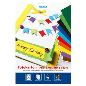 Stylex Fotokarton-Block - 22 x 33 cm - 10 Farben