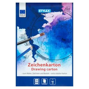Stylex Zeichenkartonblock - DIN A4 - 20 Blatt