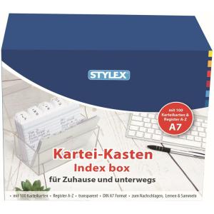 Stylex Karteikasten - DIN A7 - Register A-Z - 100 Karten...