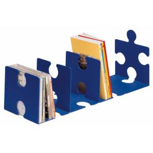 HAN CD/Buchstütze PUZZLE blau
