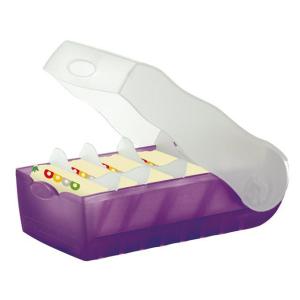 HAN Croco Lernkarteibox - DIN A8 quer - lila transluzent