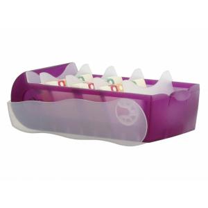 HAN Croco Lernkarteibox - DIN A7 quer - lila transluzent