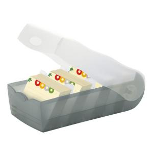 HAN Croco Lernkarteibox - DIN A7 quer - grau transluzent
