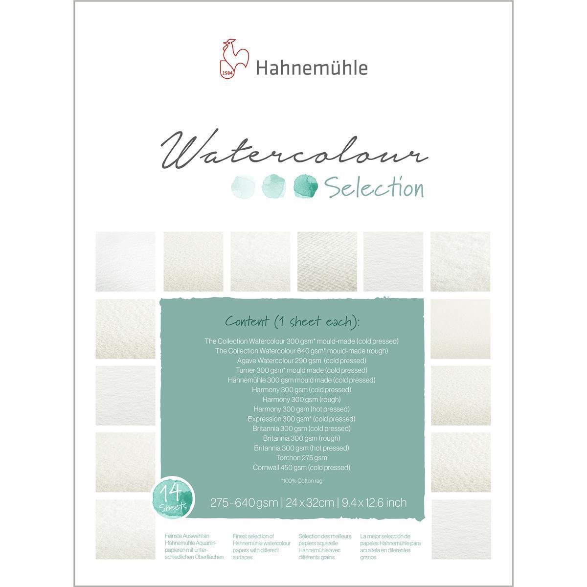 Hahnemühle Aquarellblock Britannia rau 300g//m² 17x24cm 12Blatt Aquarellpapier