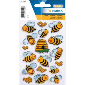 Herma 3227 MAGIC Sticker - Bienen - 18 Sticker