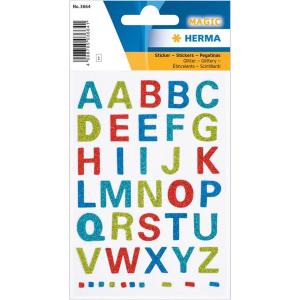 Herma 3664 MAGIC Sticker - Buchstaben - glitzernd - 40...