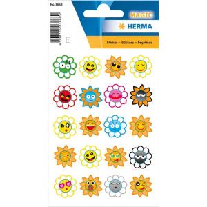 Herma 3668 MAGIC Sticker - Crazy Suns - Puffy - 20 Sticker