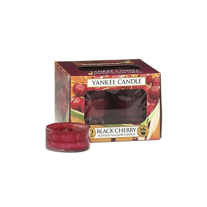 Yankee Candle Classic Tea Ligts Black Cherry 12St