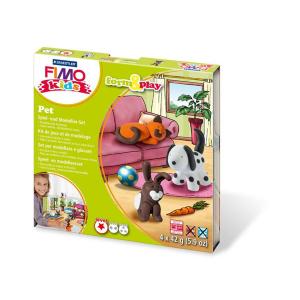 STAEDTLER FIMO kids 8034 Modelliermasse-Set - Pets - 4...