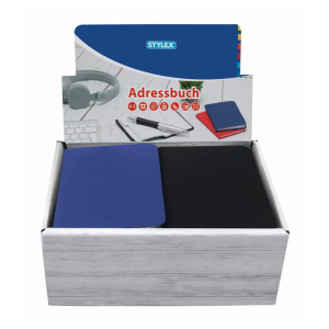 Stylex Adressbuch - 9,2 x 15,8 cm - farbig sortiert