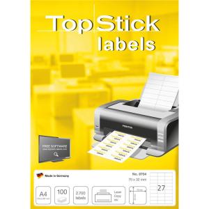 TopStick 8704 Etiketten - 70 x 32 mm - weiß - 2.700...