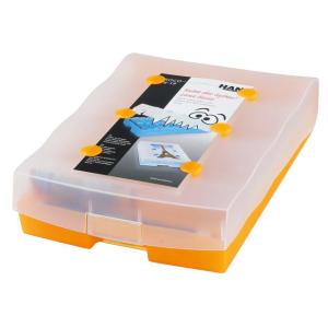 HAN Croco Lernkartei 2-6-19 - DIN A8 - transluzent orange