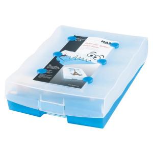 HAN Croco Lernkartei 2-6-19 - DIN A8 - transluzent blau