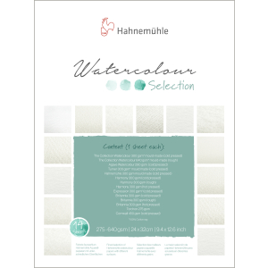 Hahnemühle Selection Aquarellblock - 24 x 32 cm - 12...