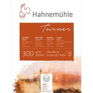 Hahnemühle Aquarellblock William Turner matt 300g/m²,...