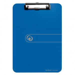 herlitz Klemmbrett - DIN A4 - opak blau - PS - mit...