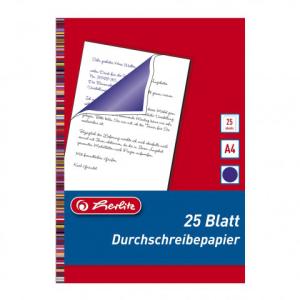 herlitz Durchschreibepapier - DIN A4 - blau-violett - 25...