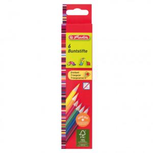 herlitz Dreikantbuntstifte - 2,5 mm - 6 Farben