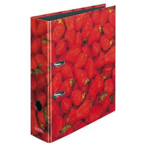 herlitz maX.file Ordner  - DIN A4 - 8 cm - Erdbeeren