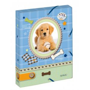 herlitz Heftbox - DIN A4 - PP - 4 cm - Pretty Pets Hund