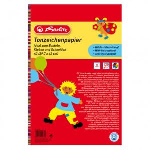 herlitz Tonzeichenpapierblock - DIN A3 - 10 Blatt