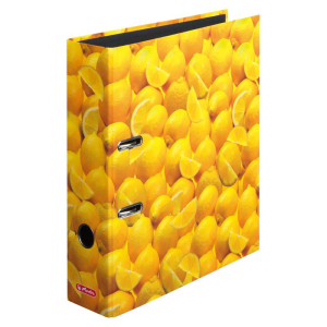 herlitz maX.file Ordner  - DIN A4 - 8 cm - Zitronen