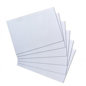 herlitz Karteikarten - DIN A4 - liniert - weiß -...