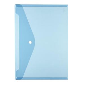 herlitz Dokumententasche - DIN A4 - PP - transparent blau...