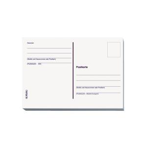 herlitz Postkarte - DIN A6 - geblockt - 20 Blatt