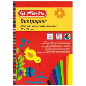 herlitz Buntpapierblock - 20 x 28 cm - 10 Blatt