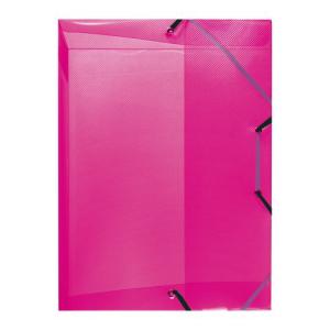 herlitz Heftbox - DIN A4 - PP - transluzent himbeer