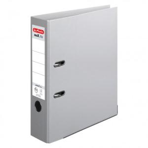 herlitz maX.file protect plus Ordner - DIN A4 - 8 cm - grau