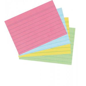 herlitz Karteikarten - DIN A7 - liniert - farbig sortiert...