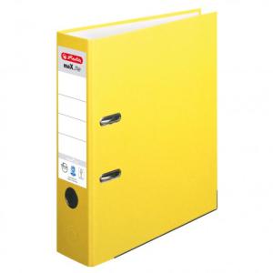 herlitz maX.file nature plus Ordner - DIN A4 - 8 cm - gelb
