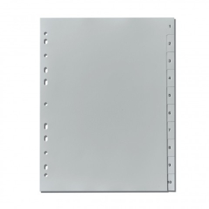 herlitz Register - DIN A4 - 1 bis 10 - PP - grau