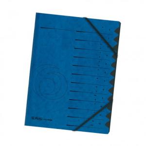 herlitz Ordnungsmappe - DIN A4 - 1 bis 12 - blau