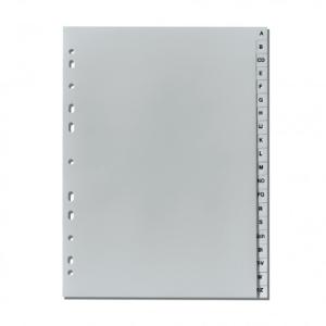 herlitz Register - DIN A4 - A bis Z - 20-teilig - PP - grau