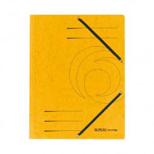 herlitz Einschlagmappe mit Gummizug - DIN A4 - Karton - gelb