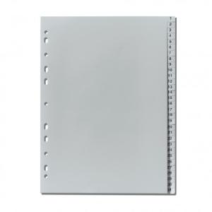 herlitz Register - DIN A4- 1 bis 31 - PP - grau