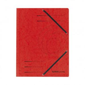 herlitz Einschlagmappe mit Gummizug - DIN A4 - Karton - rot