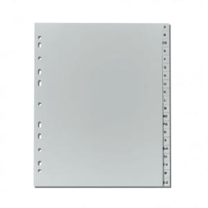 herlitz Register - DIN A4+ - A bis Z - 20-teilig - PP - grau