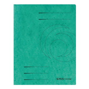 herlitz Spiralhefter - DIN A4 - Quality-Karton - grün
