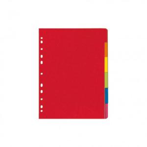 herlitz Register - DIN A4 - 6-teilig - Manilakarton - farbig